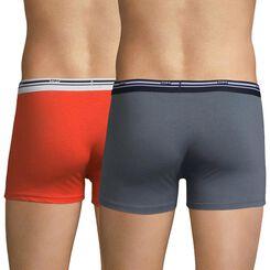 Lot de 2 boxers rouge feu et gris souris Daily Colors-DIM