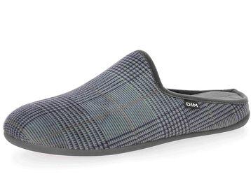Pantoufles gris imprimé style carreaux Homme-DIM
