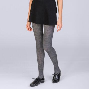 ad018658af9 Collant tresse gris chiné 110 D Femme Les ...