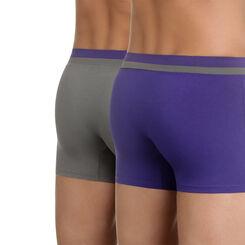 Lot de 2 boxers gris et violet Soft Touch Pop-DIM