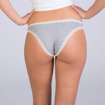 Slip gris anthracite chiné Table Panties, , DIM