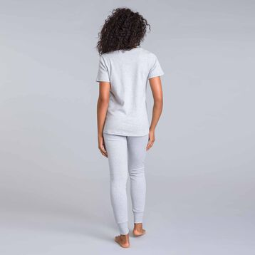 Pantalon gris chiné Essential-DIM
