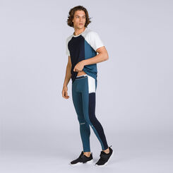 T-shirt bleu et blanc DIM Sport, , DIM