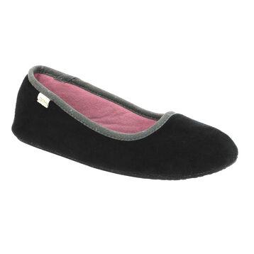 Chaussons noirs intérieur rose Femme, , DIM