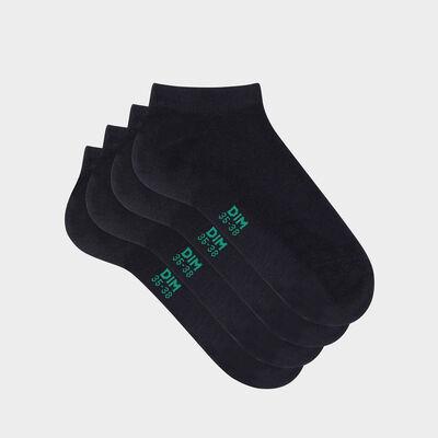 Lot de 2 paires de socquettes femme en coton bio Bleu Green by Dim, , DIM
