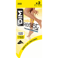 Lot de 2 Mi-Bas brun fumé Beauty Resist 20D, , DIM