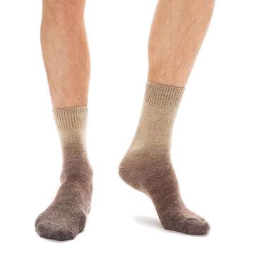 Chaussettes marrons en laine effet dégradé Homme, , DIM