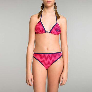 Maillot de bain 2 pièces fille rose à motifs - Bain Aloha, , DIM