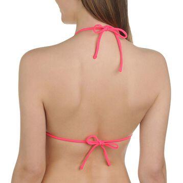 Haut de maillot de bain triangle imprimé aztèque noir Femme-DIM