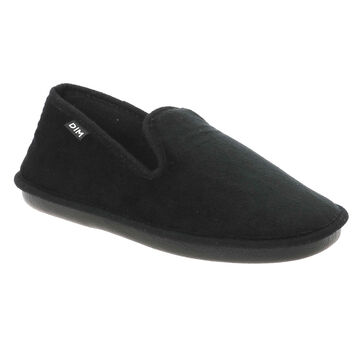 Chaussons type charentaises noirs Made In France Femme, , DIM