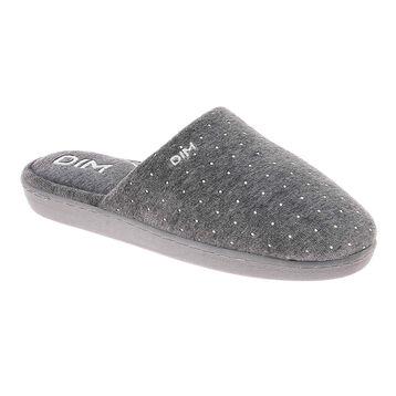 Pantoufles en velours gris Femme-DIM