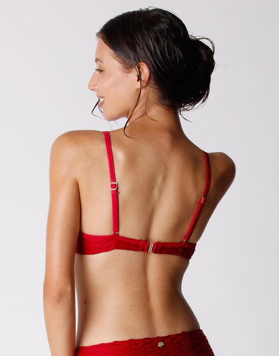 Haut de maillot de bain Rouge à armatures Femme, , DIM