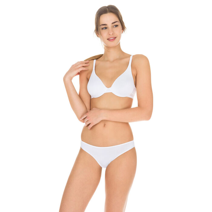 Slip blanc seconde peau Invisi Fit, , DIM
