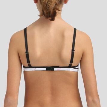 Soutien-gorge triangle à mousses amovibles en coton pour fille Pocket, , DIM