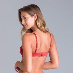 Soutien-gorge à armatures rouge cuivré Sublim Dentelle-DIM