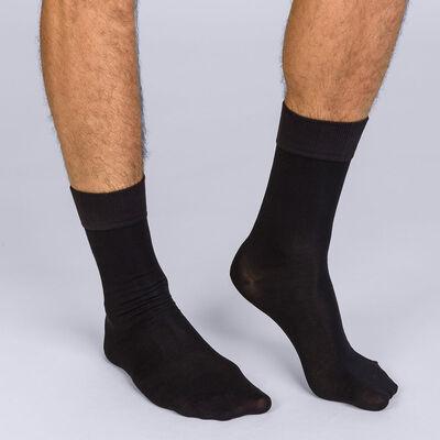 Lot de 2 mi-chaussettes noir Homme Soft Touh, , DIM