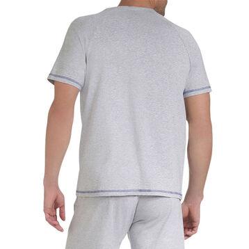 T-shirt de pyjama gris clair style sportswear Homme-DIM