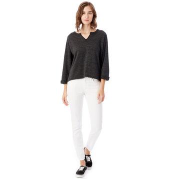 Sweatshirt noir manches trois quarts Femme-DIM