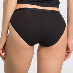 Lot de 5 slips noir, blanc, peau et gris coton - Les Pockets, , DIM