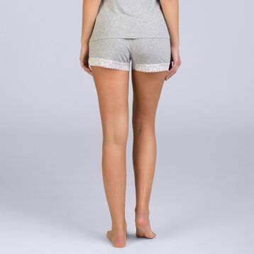 Short gris chiné Pure Essential Femme-DIM