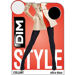 Collant noir ultra doux Madame So Cosy 346D-DIM