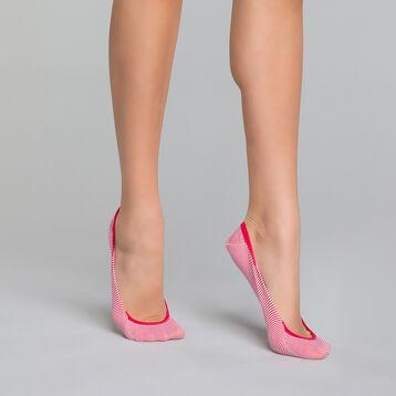 Protège-pieds Femme à rayures rouges - Invisifit, , DIM