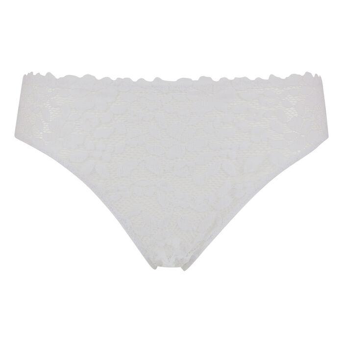 Culotte blanche en dentelle et microfibre Blooming Lace Dim, , DIM