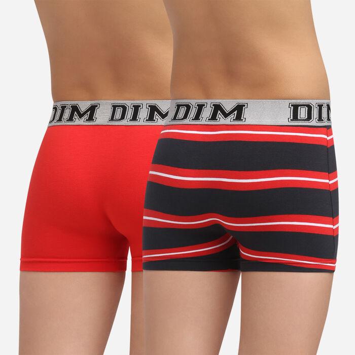 Lot de 2 boxers Coquelicot pour garçon en coton stretch Rythmics, , DIM