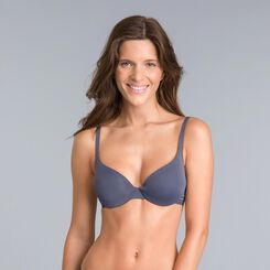 Soutien-gorge corbeille ampliforme gris granite Invisi Fit-DIM