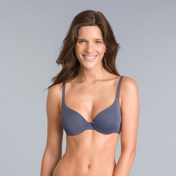 Soutien-gorge corbeille ampliforme gris granite Invisi Fit, , DIM