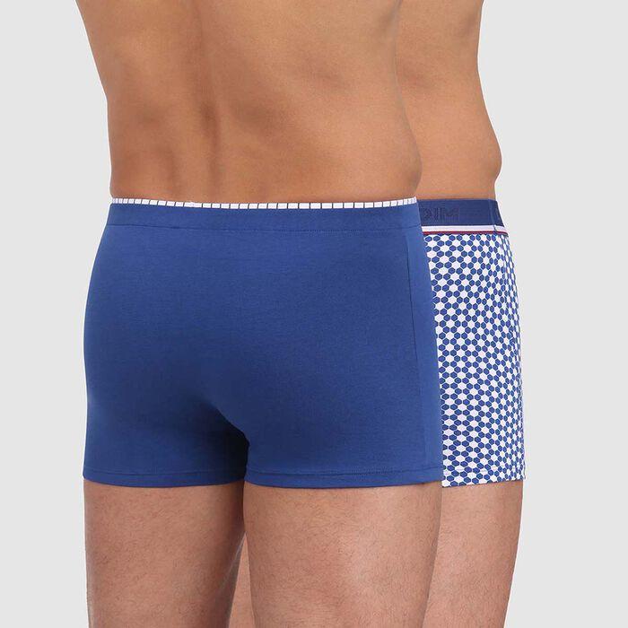 Lot de 2 boxers bleu acier imprimé ballon Dim Cup, , DIM