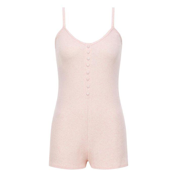 Combishort pour femme en coton stretch Rose Chiné Clair Casual Line, , DIM