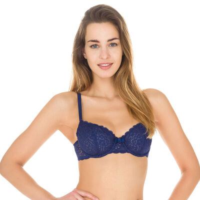 Soutien-gorge corbeille bleu encre Sublim Dentelle-DIM