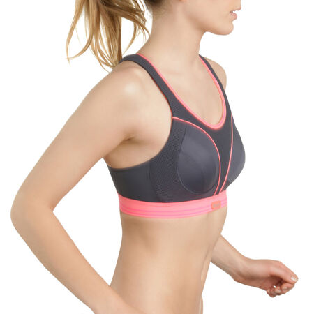Soutien-gorge Ultimate Run Bra gris et rose Shock Absorber. Ref 5044. 34 7fe1fe049a0