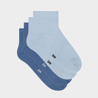 Lot de 2 paires de socquettes femme en microfibre Bleu Minuit Dim Skin, , DIM