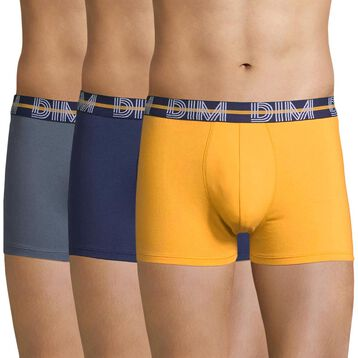 Lot de 3 boxers jaune, gris et bleu - Dim Powerful, , DIM