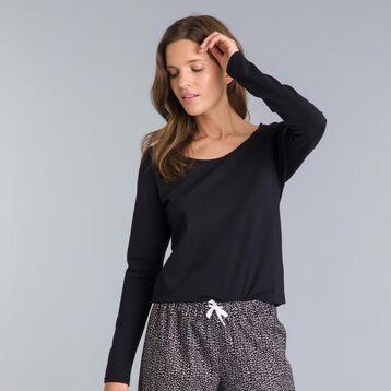 Tee-shirt manche longue noir Soft Cool-DIM