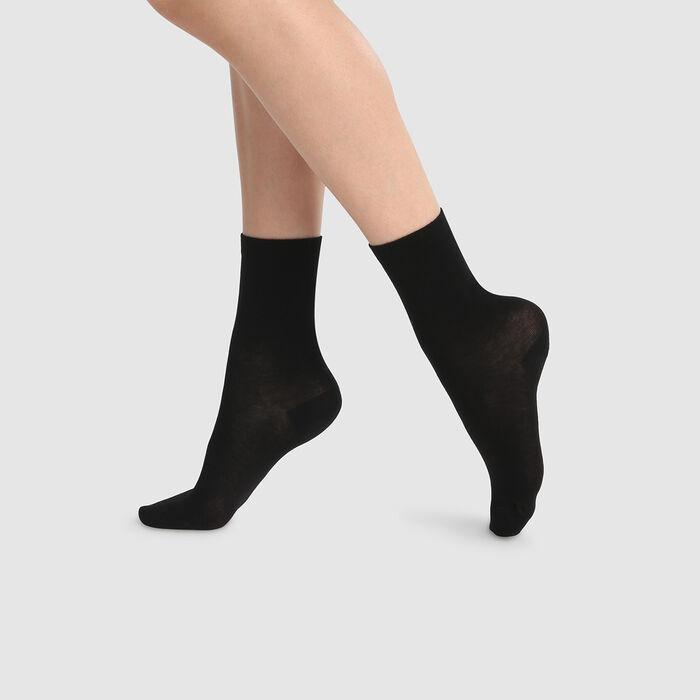 Lot de 2 paires de chaussettes femme hautes lyocell Noir Green by Dim, , DIM