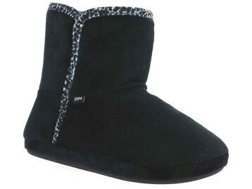 Chaussons montants noirs Femme-DIM