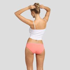 Lot de 2 culottes skin rose et corail rosé Les Pockets Microfibre Dim, , DIM