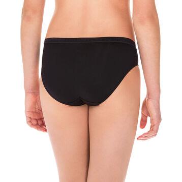 Lot de 2 culottes noires en microfibre DIM Girl-DIM