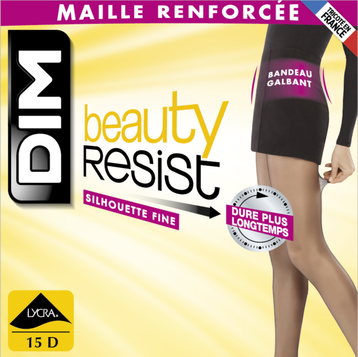 Collant Beauty Resist silhouette fine ambre 15D, , DIM