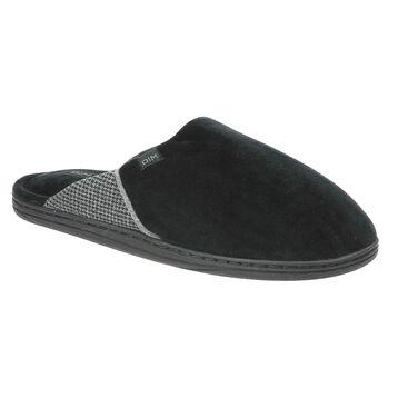 Pantoufles noires avec motif imprimé Homme, , DIM