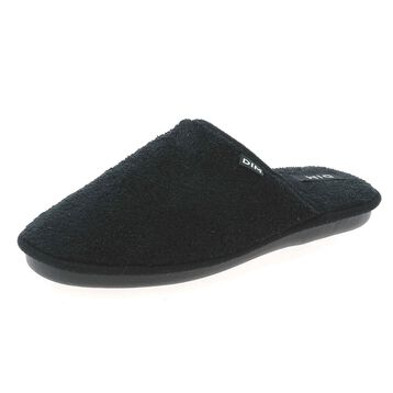 Chaussons type pantoufles noirs Made In France Femme, , DIM