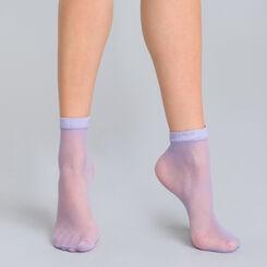 Socquettes résille lilas Style-DIM