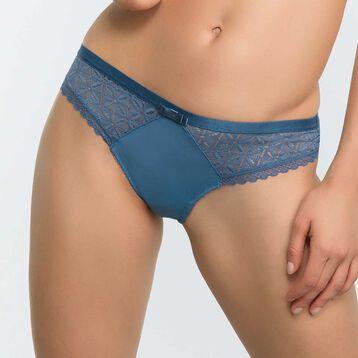 Tanga brésilien dentelle bleu antique - Dim Daily Glam Trendy Sexy, , DIM