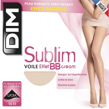 Collant Sublim beige rosé Voile Effet BB cream 16D, , DIM