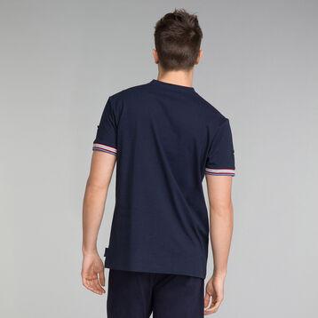 T-Shirt pyjama col V bleu marine - Mix and Match, , DIM
