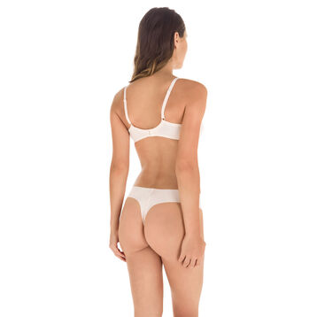 String rose ballerine en microfibre Nude Support-DIM