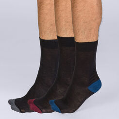 Lot de 3 mi-chaussettes Mix and Match Homme Coton Style, , DIM
